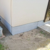 広島で外壁塗装【広島県広島市西区井口K様邸「基礎左官工事」】のイメージ